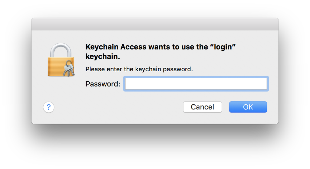 Mac OS Login keychain prompt